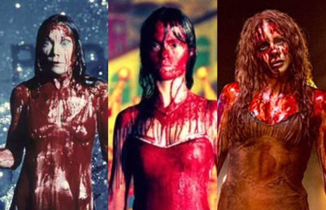 Sissi Spacek, Angela Bettis, and Chloe Grace Moretz as Carrie White